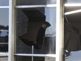 Peritos avaliam estragos ao Palácio do Itamaraty - Foto: Agência Brasil