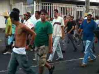 Vídeo: manifestantes estão em pequeno número - Foto: Reprodução