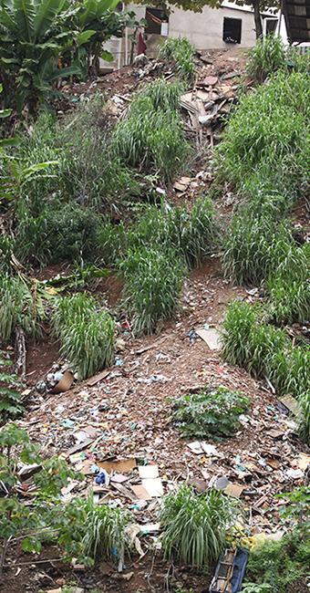 Lixo em encosta no subúrbio, grave problema ambiental - Foto: Edilson Lima | Ag. A TARDE