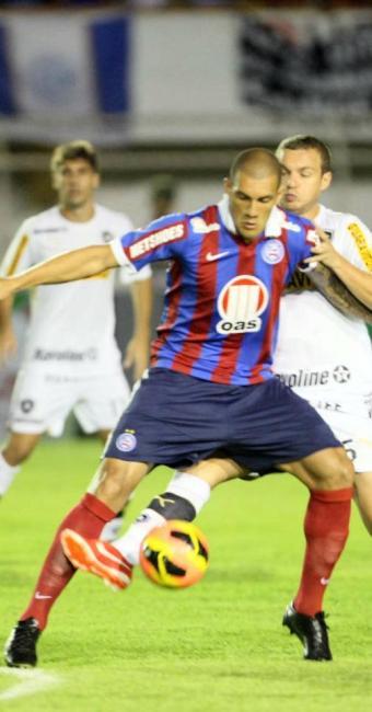 Nome da noite, Fernandão marcou duas vezes e ajudou o Bahia a saltar na tabela - Foto: Jorge Henrique | Estadão Conteúdo