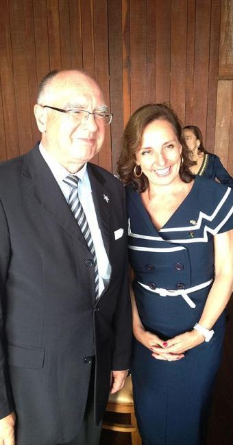 Embaixador da alemanha Wilfried Grolig e consul honorária Petra Schaeber - Foto: Ronaldo Jacobina | Ag. A TARDE