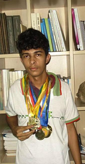 Yure Carneiro de Oliveira, 17 anos, do Ifba Simões Filho, foi detaque na olimpíada - Foto: Digulgação | Ifba Simões Filho