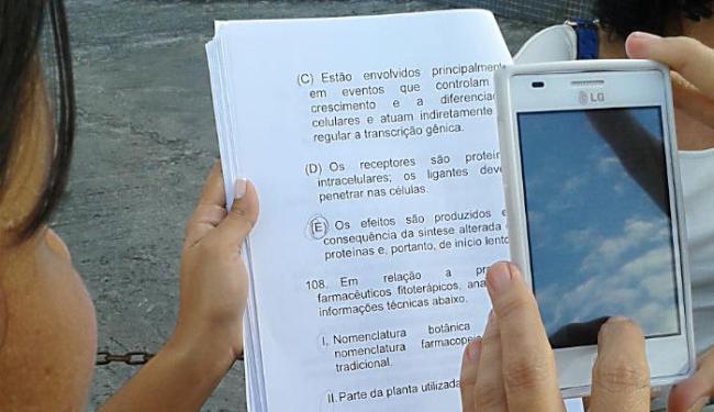 Leitora diz que prova específica foi entregue antes do tempo agendado - Foto: Lígia Miranda | Foto do leitor