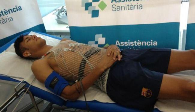 Neymar passou por exames médicos antes de ser apresentado oficialmente - Foto: Twitter / Reprodução