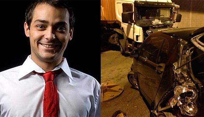 Veículo foi atingido por um caminhão, que perdeu o controle ao passar por um bueiro na pista - Foto: Reprodução