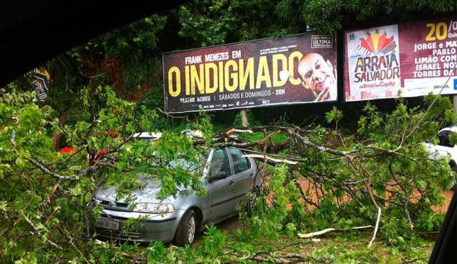 Veículos estavam estacionados no momento do acidente - Foto: Iracema Chequer | Ag. A TARDE