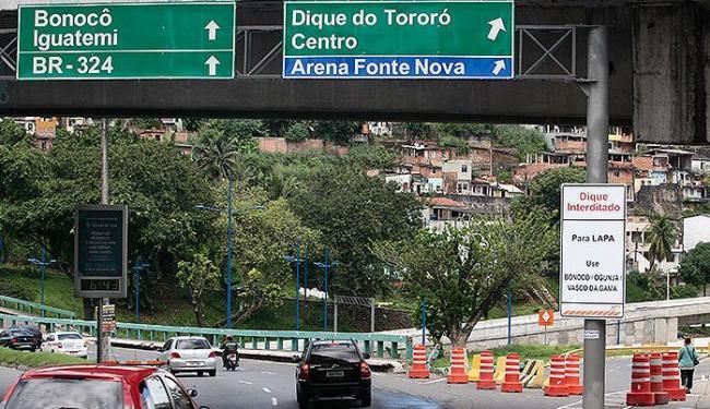 Interdição no Dique ainda confunde motoristas - Foto: Mila Cordeiro | Ag. A TARDE