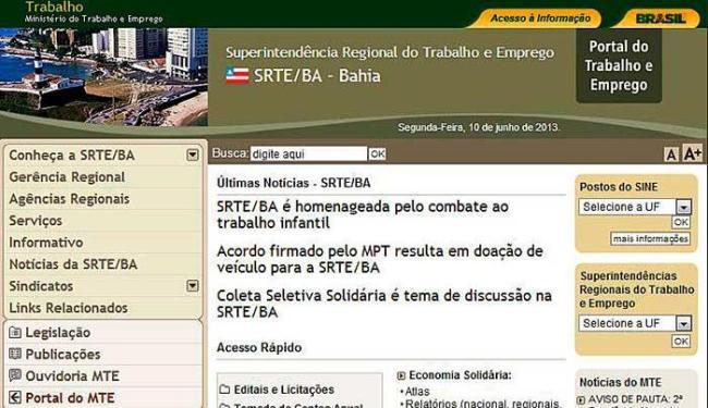 SRTE/BA implantará novo procedimento para solicitação de Registro profissional - Foto: Reprodução   Internet
