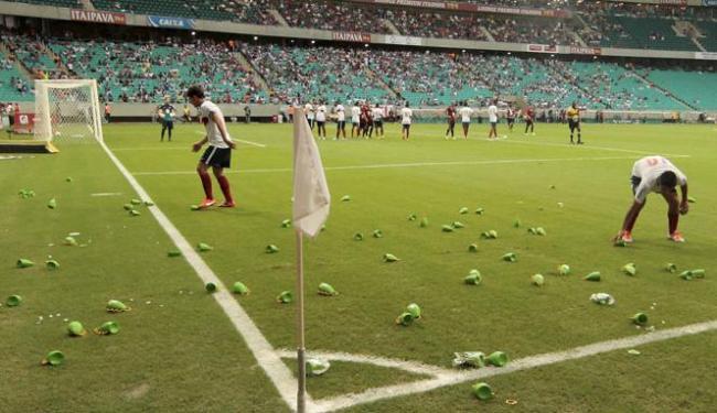 Além do barulho, Fifa tem receio que instrumentos como a caxirola sejam jogados em campo - Foto: Eduardo Martins | Ag. A Tarde