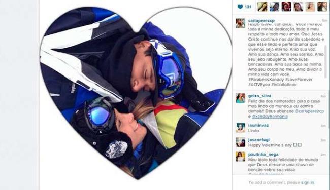 Carla diz que Xanddy é seu grande presente - Foto: Reprodução | Instagram