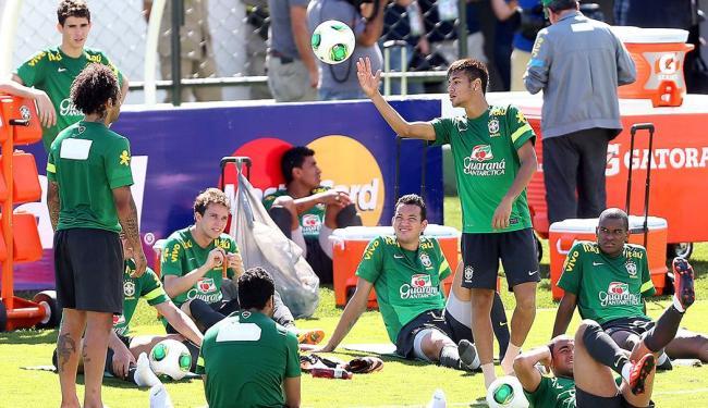 Antes da viagem de avião a Brasília, Seleção treinou em Goiânia - Foto: Jefferson Bernardes | Divulgação | VIPCOMM