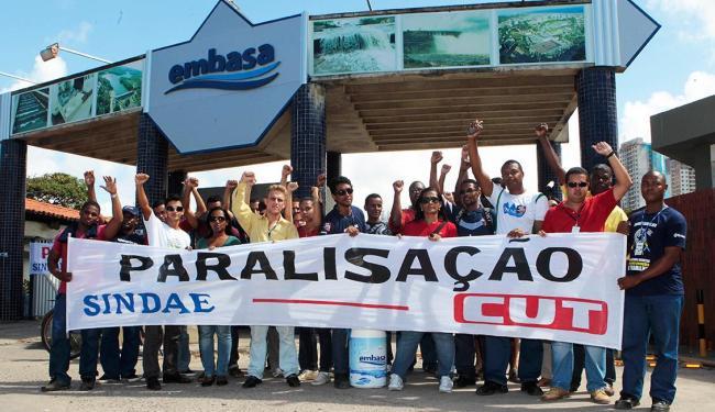 Funcionários da embasa param atividades nesta quinta - Foto: Eduardo Martins | Ag. A Tarde
