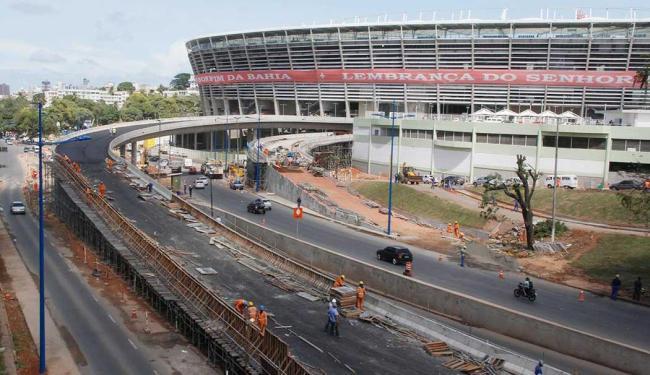 Fifa exige que entorno da Fonte Nova seja controlado; pontos de ônibus realocados - Foto: Joá Souza | Ag. A TARDE