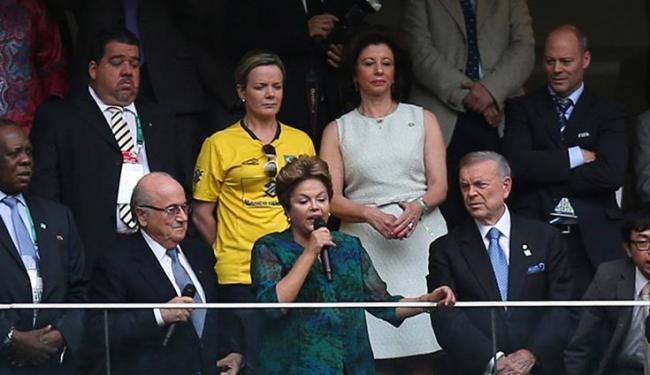 Dilma acabou vaiada durante a cerimônia de abertura da Copa das Confederações - Foto: Ueslei Marcelino / Agência Reuters
