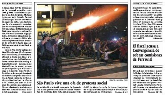 Destaque do jornal El País: