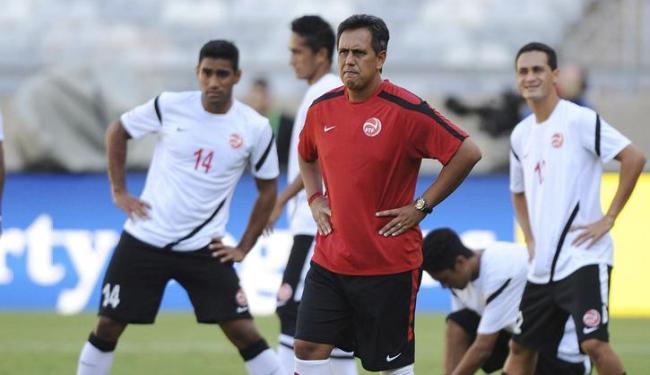 Seleção do Taiti treina no Mineirão para a estreia contra a Nigéria - Foto: Peter Powell / Agência EFE