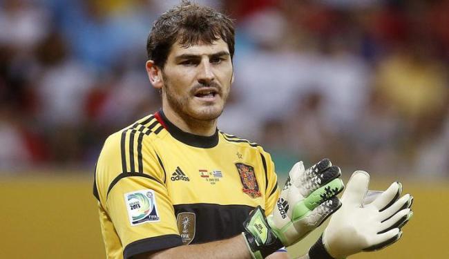 Casillas estava há cinco meses sem jogar antes de atuar na partida contra o Uruguai - Foto: Felipe Trueba / Agência EFE
