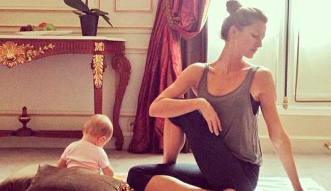 Vivian brinca ao lado de Gisele durante exercícios - Foto: Instagram | Divulgação