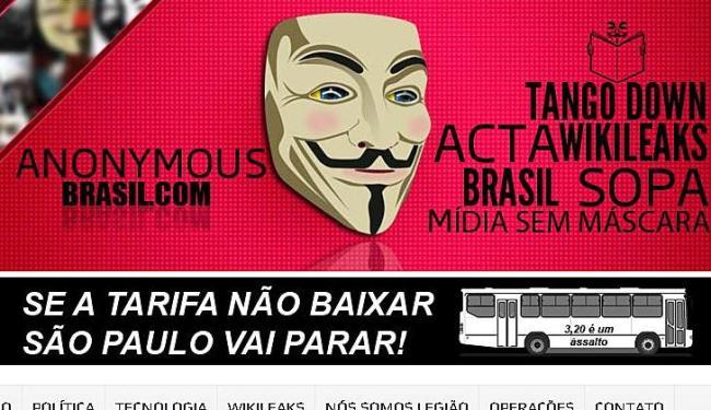 Grupo Anonymous divulga dados confidenciais - Foto: Reprodução | Ag. A TARDE