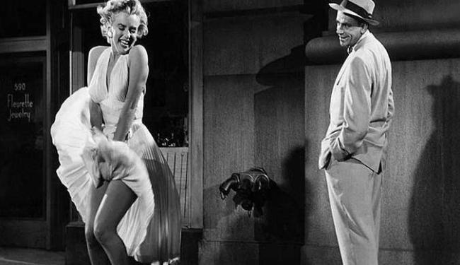 A clássica cena de O pecado mora ao lado é a primeira que o nome de Marilyn evoca - Foto: Divulgação