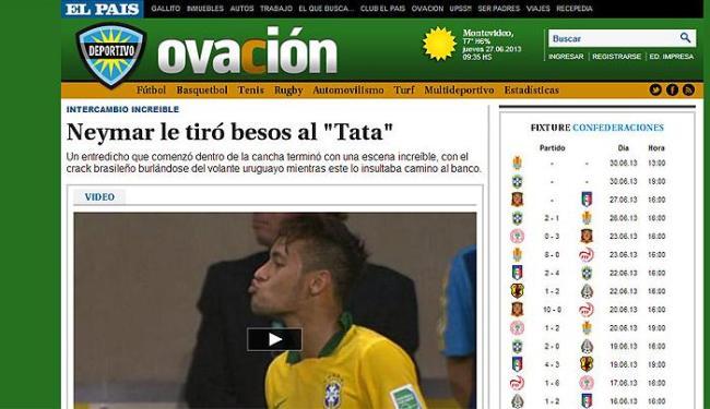 Site do jornal uruguaio El País classificou simulação de Neymar como