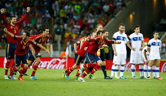 Após empate sem gols, Espanha vence Itália por 7 a 6 nos pênaltis e avança à final - Foto: Paulo Whitaker | Ag. Reuters