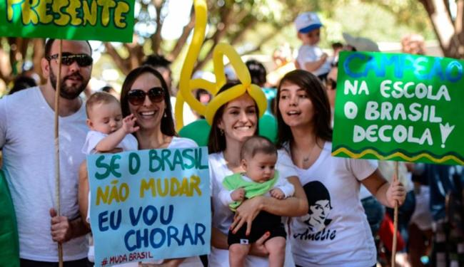 A Marcha das Crianças surgiu da vontade de pais e mães de participar de protestos - Foto: Agência Brasil