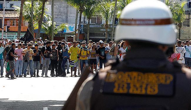Com poucos manifestantes PM não teve dificuldades - Foto: Lúcio Távora | Ag. A TARDE