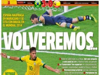 Jornal espanhol Marca anuncia clima de revanche para a Copa de 2014 - Foto: Reprodução | Marca