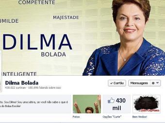 Reprodução da página Dilma Bolada do Facebook - Foto: Reprodução   Facebook