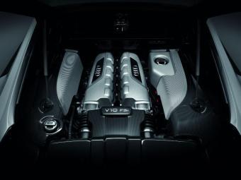 Audi R8 V10 tem motor de 550 cv - Foto: Divulgação Audi