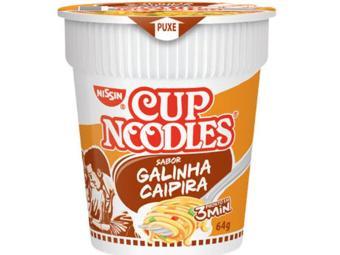 As larvas e insetos foram encontrados no produto sabor galinha caipira - Foto: Nissin | Reprodução
