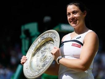 Esta foi o primeiro título da tenista em Wimbledon - Foto: Agência Reuters