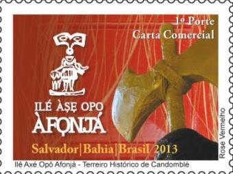 Selo do terreiro Ilê Axé Opô Afonjá será lançado no sábado - Foto: Divulgação | Correios