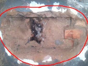 Detentos utilizaram barra de ferro para fazer buraco na parede - Foto: Reprodução | Giro de Notícias