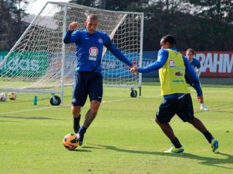Time treinou no CT do Palmeiras antes de viajar para Campinas - Foto: Esporte Cluba Bahia   Divulagção