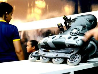 O modelo in-line, de corrida ou de fitness é usado para quem curte velocidade - Foto: Marcelo Soares   Divulgação