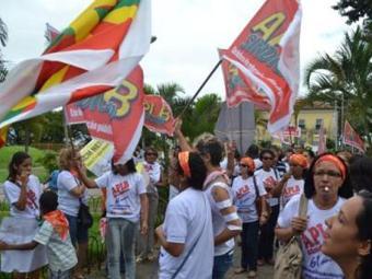 Educadores protestaram na área externa da Secretaria de Educação na última sexta - Foto: APLB | Divulgação