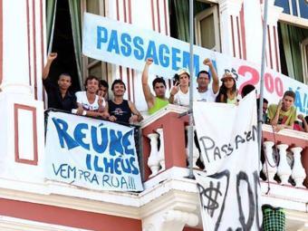 Manifestantes ocupam a Prefeitura de Ilhéus há pouco mais de 24h - Foto: Reprodução | Facebook