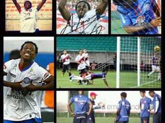 Na primeira passagem pelo Bahia, Adriano anotou 15 gols em 27 jogos - Foto: Facebook | Reprodução