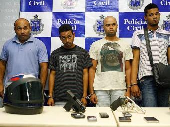 Quadrinha foi apresentada nesta sexta pela polícia - Foto: Marco Aurélio Martins | Ag. A TARDE