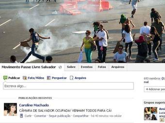 Integrantes do MPL ocupam Câmara - Foto: Reprodução   Facebook