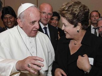 Papa também enviou bênção para a presidente - Foto: Agência Reuters