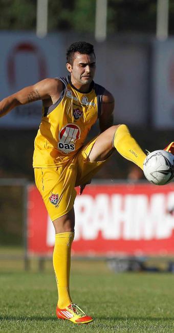 Neto Coruja sofre nova lesão na coxa direita e deixa o treino mais cedo na Toca do Leão - Foto: Eduardo Martins   Ag. A Tarde