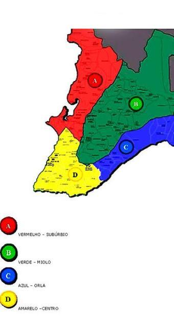 Salvador dividida em quatro regiões pelo sistema de transporte público - Foto: Transalvador | Divulgação