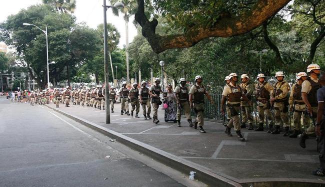 Chegada do caboclo: cerco policial no Campo Grande foi suspenso por ordem do governador - Foto: Margarida Neide | Ag. A TARDE