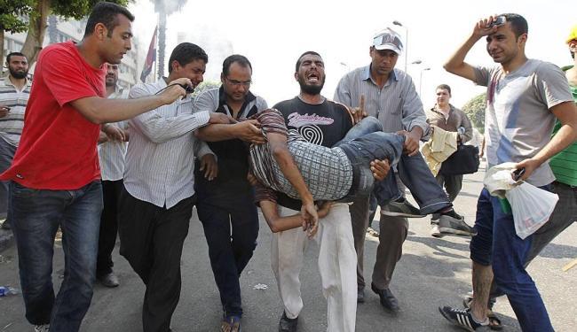Manifestantes foram atingidos por balas de espingarda - Foto: Agência Reuters