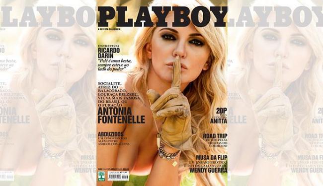 Antonia Fontenelle aparece em close na nova capa - Foto: Divulgação | Playboy