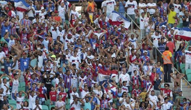 Mais de 24 mil torcedores estiveram presentes ao jogo na Arena Fonte Nova - Foto: Eduardo Martins   Ag. A Tarde