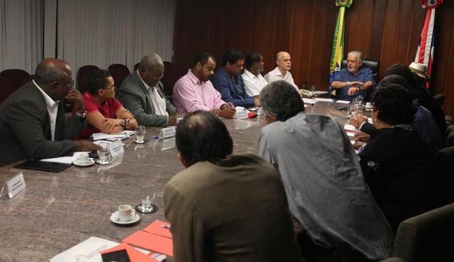 Governador se reuniu no sábado com representantes de diversas centrais sindicais - Foto: Adenilson Nunes | Secom | Divulgação